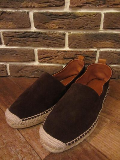 "POLO BY RALPH LAUREN(ポロ ラルフローレン)BROWNSWORTH SUEDE ESPADRILLE""DARKBROWN""(スウェードエスパドリーユ)"