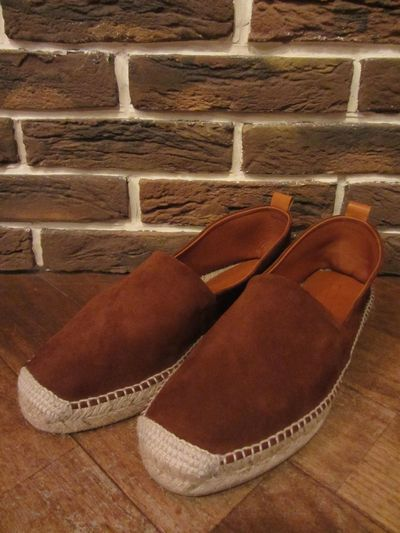 "POLO BY RALPH LAUREN(ポロ ラルフローレン)BROWNS WORTH SUEDE ESPADRILLE""SNUF BROWN""(スウェードエスパドリーユ)"