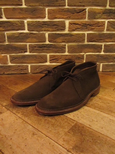 "ALDEN(オールデン)UNLINED CHUKKA BOOTS"" DARK BROWN SUEDE""(スウェードチャッカブーツ)"