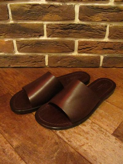 "RALPH LAUREN(ポロ ラルフローレン)COBTREE LEATHER SANDAL ""MADE IN ITALY""(レザーサンダル)"