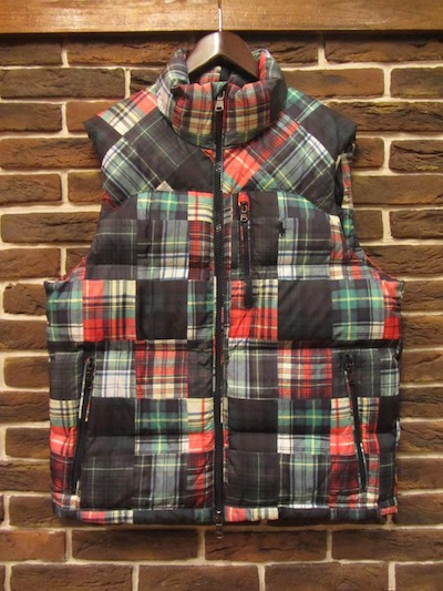 POLO RALPH LAUREN(ラルフローレン)WATER REPELLENT PATCHWORK DOWN VEST(プリントパッチワークダウンベスト)