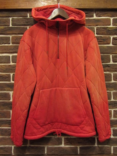 RRL (ダブルアールエル)QUILTED COTTONJERSY PULLOVER HOODIE(キルティングハーフジップパーカー)