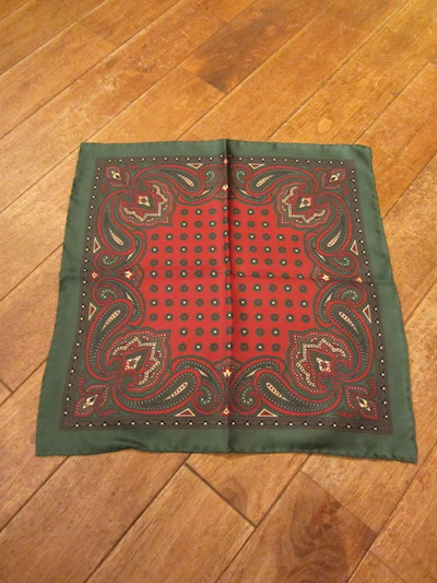 "RRL (ダブルアールエル)PAISLEY SILK POCKET SQUARE ""MADE IN ITALY""(ペイズリーポケットチーフ)"