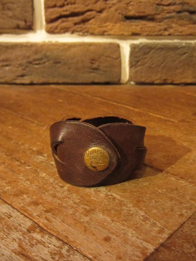"RRL (ダブルアールエル)EMBOSS SNAP BRAIDED LEATHER CUFF""MADE IN ITALY""""SMALL""(レザーブレスレット)"