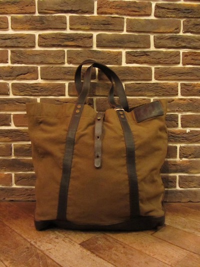 "RRL (ダブルアールエル)VINTAGE MODEL TOTE""MADE IN ITALY""(キャンバス×レザートートバッグ""MADE IN ITALY"")"