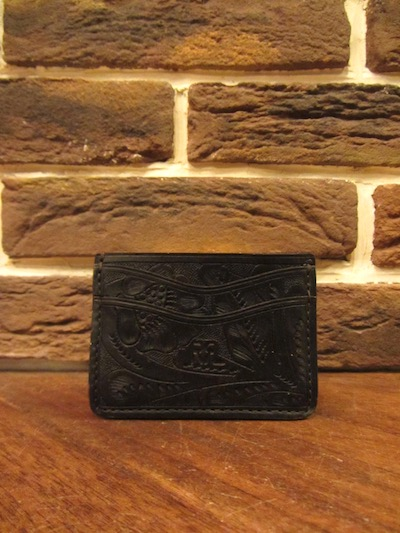 RRL (ダブルアールエル)TOOLED LEATHER CARD WALLET/(カービングレザーカードウォレット)
