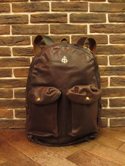 RRL (ダブルアールエル)MITCHELL LEATHER BACKACK(レザーリュックサック)