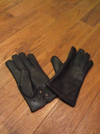 "RRL (ダブルアールエル)LEATHER OFFICERS GLOVE""BLACK"" 18WINTER (レザーグローブ)"