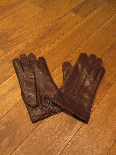 "RRL (ダブルアールエル)LEATHER OFFICERS GLOVE""BROWN"" 17WINTER #2 (レザーグローブ)"